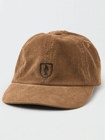 כובע מצחייה קורדרוי עם לוגו