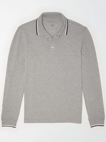 חולצת פולו שרוולים ארוכים / גברים