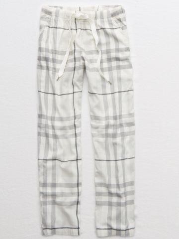 מכנסי פיג'מה בהדפס משבצות