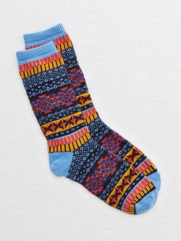 גרביים גבוהים מולטי קולור / נשים