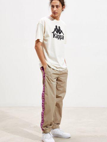 מכנסי ניילון עם סטריפ לוגו Kappa