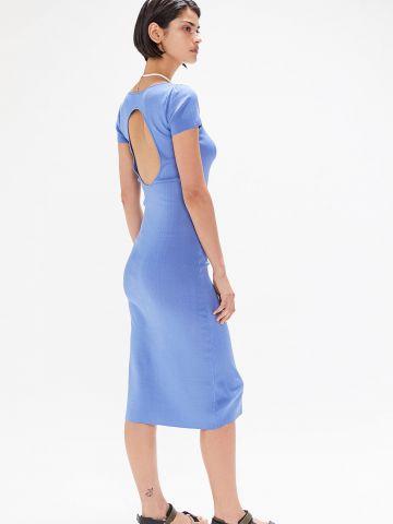 שמלת מידי ריב עם פתח בגב UO