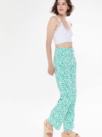 ג'ינס ארוך בהדפס פרחים BDG