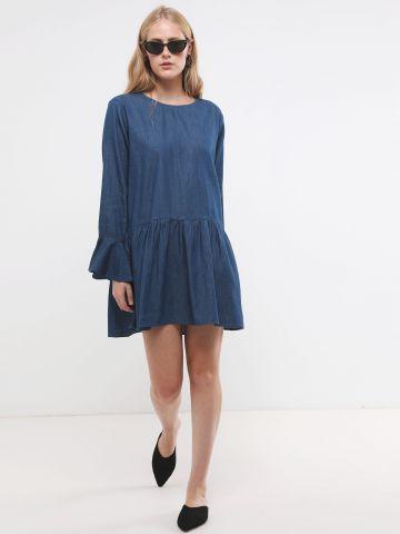שמלת ג'ינס מיני פפלום