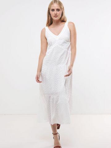 שמלת מקסי קומות בעיטור רקמה