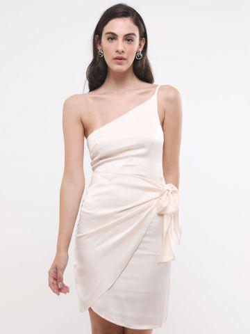 שמלת סאטן מיני וואן שולדר של TERMINAL X