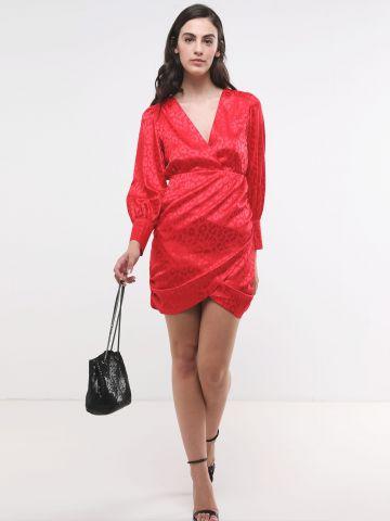שמלת מיני סאטן בדוגמת חברבורות