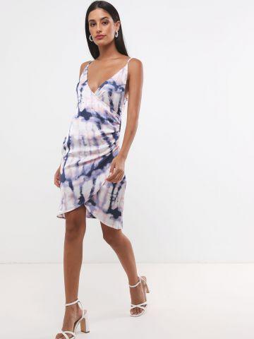 שמלת מיני מעטפת טאי דאי