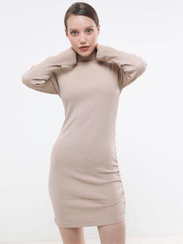 שמלת מיני ריב עם כיווץ