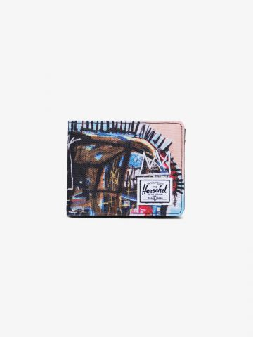 ארנק קנבס מתקפל בהדפס גרפיטי Roy Wallet X BASQUIAT