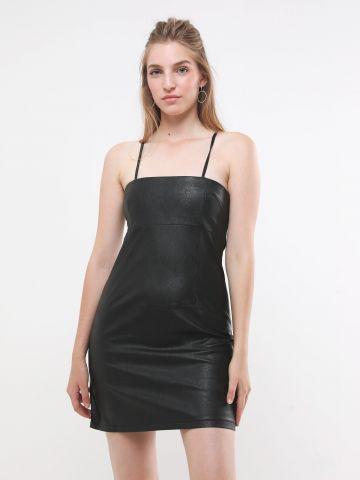 שמלת מיני דמוי עור של TERMINAL X
