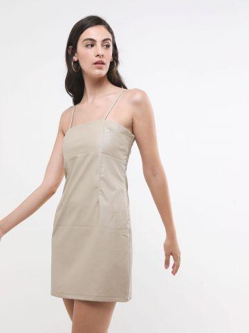 שמלת מיני דמוי עור