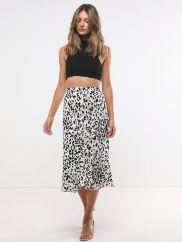 חצאית מידי בהדפס מנומר