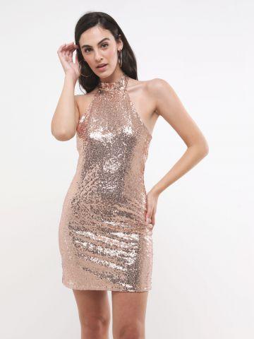 שמלת פאייטים מיני קולר