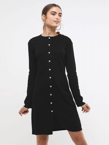 שמלת מיני ריב עם כפתורים של TERMINAL X