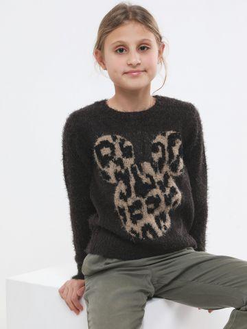 סוודר פלאפי עם דוגמת דיסני