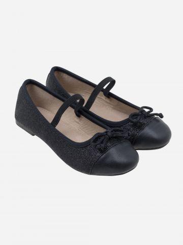 נעלי בובה מנצנצות עם פפיון / בנות