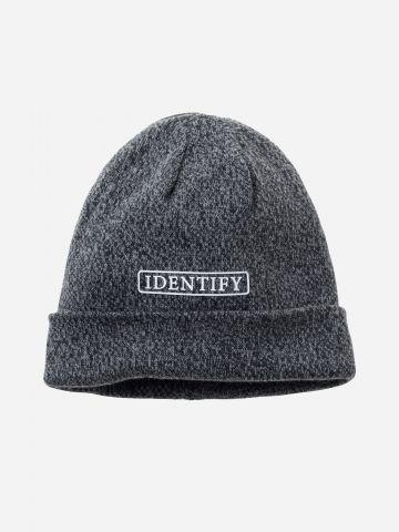 כובע גרב מלאנז' עם תבליט כיתוב Identify / בנים
