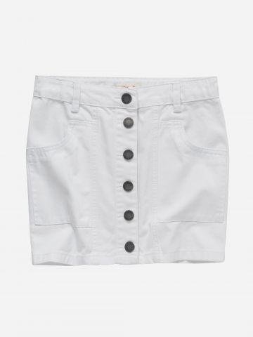 חצאית ג'ינס עם כפתורים / בנות