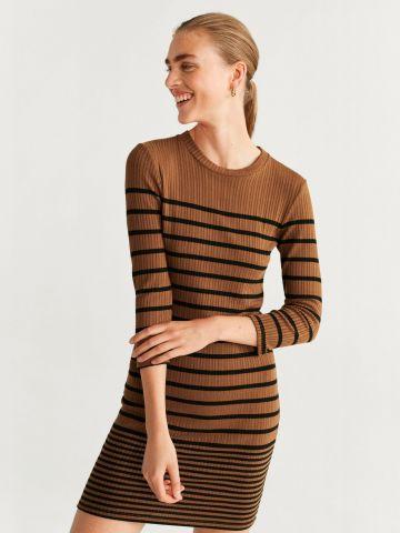 שמלת ריב מיני בדוגמת פסים