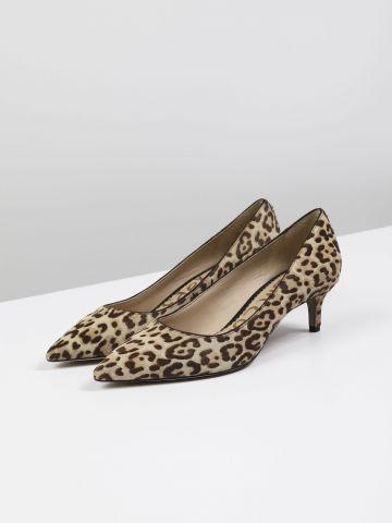 נעלי עקב מעור בהדפס מנומר Dori