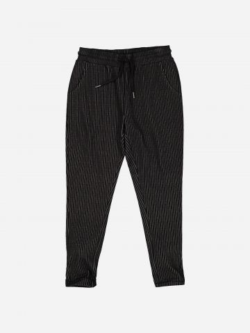 מכנסי טרנינג בהדפס פסים עם כיסים / בנות