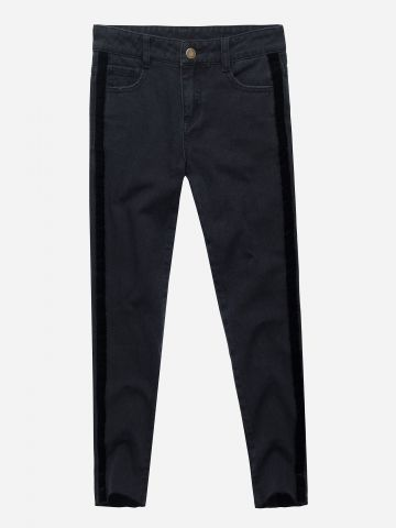 ג'ינס ארוך עם סטריפים קטיפה / בנות