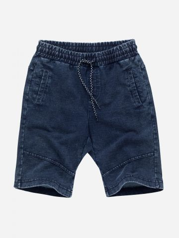 מכנסי ברמודה עם שרוך קשירה / בנים