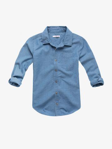 חולצה מכופתרת עם שרוולים ארוכים / בנים