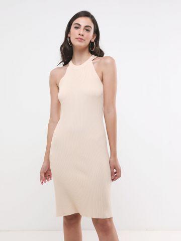 שמלת סריג מידי קולר