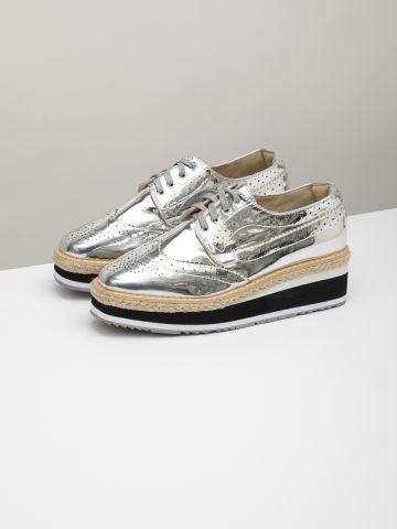 נעלי אוקספורד פלטפורמה בגימור מבריק