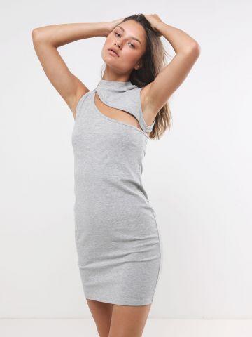 שמלת מיני ריב עם פתח של TERMINAL X