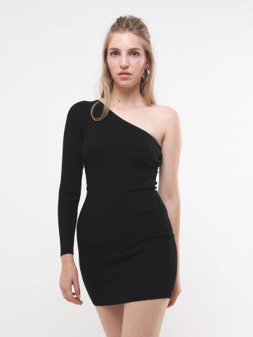 שמלת סריג מיני וואן שולדר