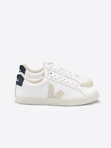 נעלי סניקרס עור עם לוגו Esplar Leather / גברים