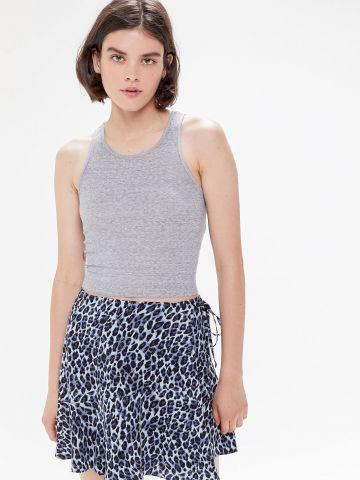 חצאית מעטפת מיני בהדפס מנומר UO