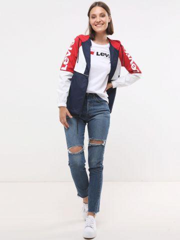 ג'ינס סקיני ארוך עם קרעים