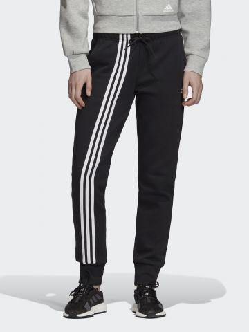 מכנסי טרנינג ארוכים עם הדפס פסים ולוגו