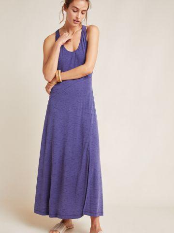 שמלת מקסי רייסר עם שרוכי קשירה בגב Maeve