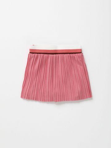 חצאית פליסה עם גומי צבעוני / 6M-3Y