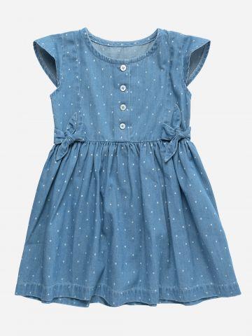 שמלת ג'ינס בהדפס נקודות / 3M-3Y