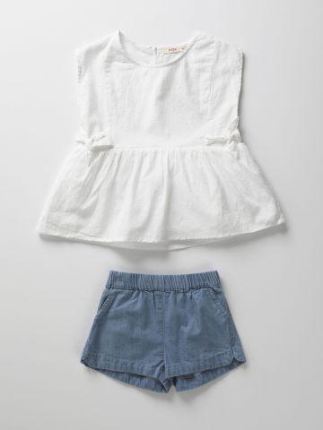 סט גופייה וג'ינס קצרים / 3M-3Y