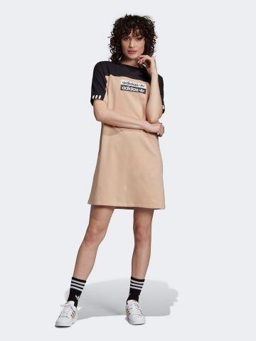 שמלת טי שירט מיני קולור בלוק