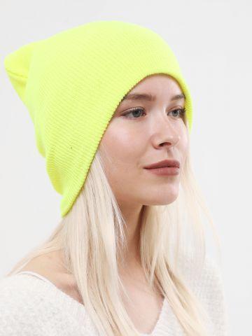 כובע גרב ניאון סרוג / נשים