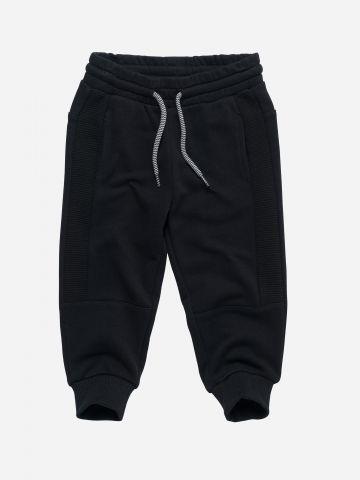 מכנסי טרנינג עם פאנלים ריב / 3M-3Y