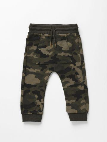 מכנסי פוטר קמופלאז' עם כיס / 3M-3Y