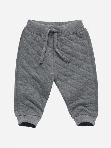מכנסי טרנינג פוטר קווילט ארוכים / 0-3Y