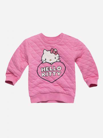 סווטשירט פוטר קווילט עם הדפס Hello Kitty / 0-3Y