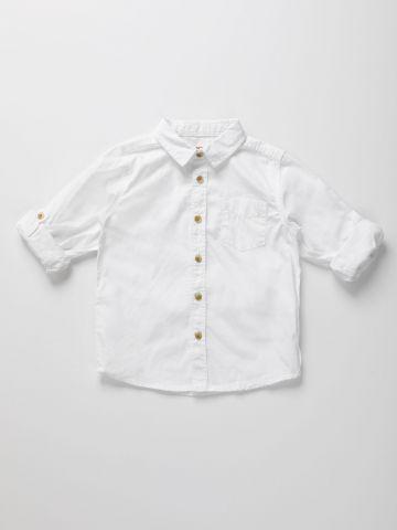 חולצה מכופתרת קלאסית / 3M-3Y