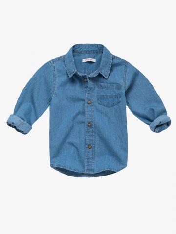 חולצת ג'ינס מכופתרת / 3M-3Y