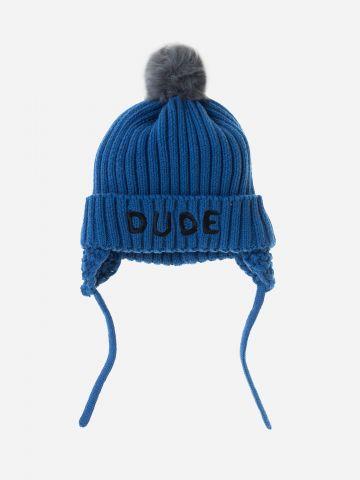 כובע צמר עם פונפון